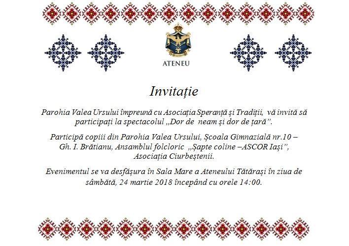 Invitație spectacol